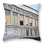 Mkt Train Passanger Car Throw Pillow