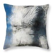 Mlk 5211 Fluid Pigments Hp Throw Pillow