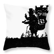 M�ller The Bird Seller Throw Pillow
