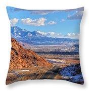 Moab Fault Medium Panorama Throw Pillow