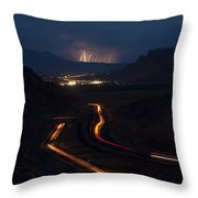 Moab Storm Throw Pillow