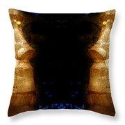 Moai Gold Throw Pillow