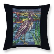 Moasic Crane Throw Pillow