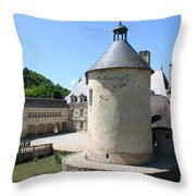 Moated Castle - Bussy Rabutin - Burgundy Throw Pillow