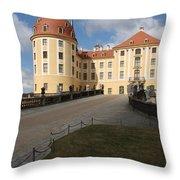 Moated Castle Moritzburg Throw Pillow