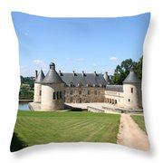 Moated Palace - Bussy-rabutin Throw Pillow