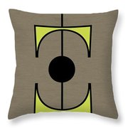 Mobile 1 In Green Throw Pillow
