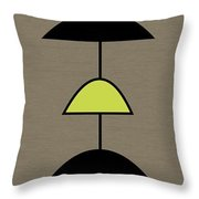 Mobile 2 In Green Throw Pillow