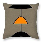 Mobile 2 In Orange Throw Pillow