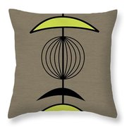 Mobile 3 In Green Throw Pillow