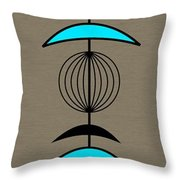 Mobile 3 In Turquoise Throw Pillow