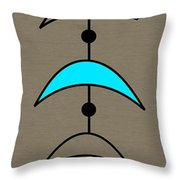 Mobile 4 In Turquoise Throw Pillow