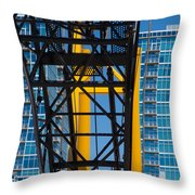 Mobile Crane Section Throw Pillow