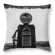 Mobilgas Pumps Throw Pillow
