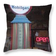 Mobilgas Throw Pillow