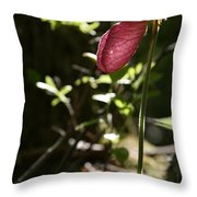 Moccasin Flower Throw Pillow