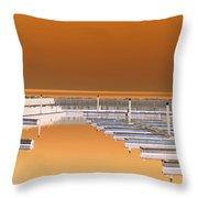 Mocha Dock Throw Pillow