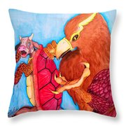 Mock Turtle And Griffon Throw Pillow