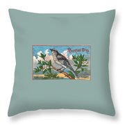 Mocking Bird Throw Pillow