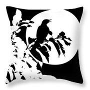 Mockingbird Moon Throw Pillow