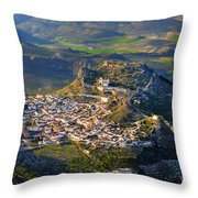 Moclin Castle From The Air Throw Pillow