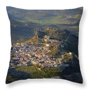 Moclin Castle Throw Pillow