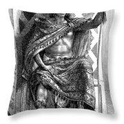 Moctezuma II, Ninth Tlatoani, Aztec Throw Pillow