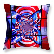 Mod 163 - Freedom Abstract Throw Pillow