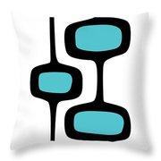 Mod Pod Two Black On White Throw Pillow