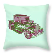 Model A Ford Pickup Hotrod. Throw Pillow
