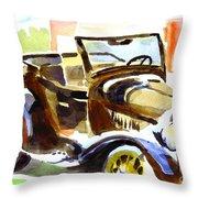 Model A In September Sunshine Throw Pillow