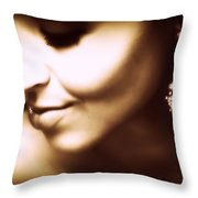 Model - Beauty Throw Pillow