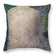 Model From The Back Throw Pillow
