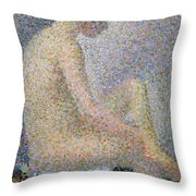 Model In Profile Throw Pillow