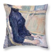Model In Study  Throw Pillow