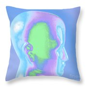 Model Of A Human Head In Profile Throw Pillow