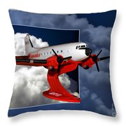 Model Planes Dc3 01 Throw Pillow
