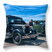 Model T Fords Throw Pillow