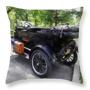 Model T With Luggage Rack Throw Pillow