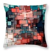 Modern Abstract Ix Throw Pillow