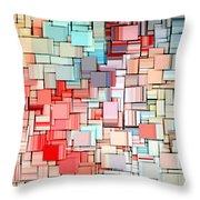 Modern Abstract X Throw Pillow