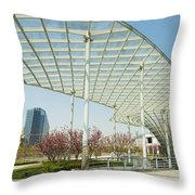 Modern Architecture In Shanghai China Throw Pillow