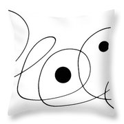 Modern Art - To The Point - By Sharon Cummings Throw Pillow