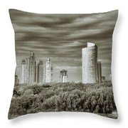 Modern Buenos Aires Black And White Throw Pillow