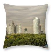 Modern Buenos Aires Throw Pillow