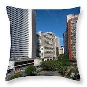 Modern Buildings In Central Rio De Throw Pillow