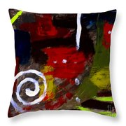 Modern Cave Art Throw Pillow