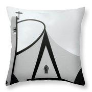 Modern Church In Cochin Throw Pillow
