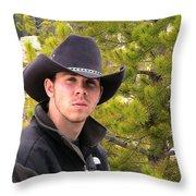 Modern Day Cowboy Throw Pillow