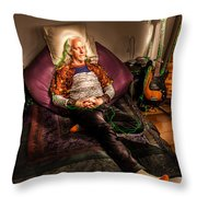 Modern Day Jesus Throw Pillow by Semmick Photo